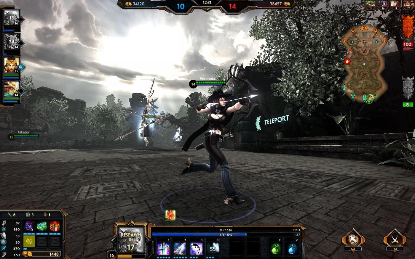 Smite Gameplay Screenshot
