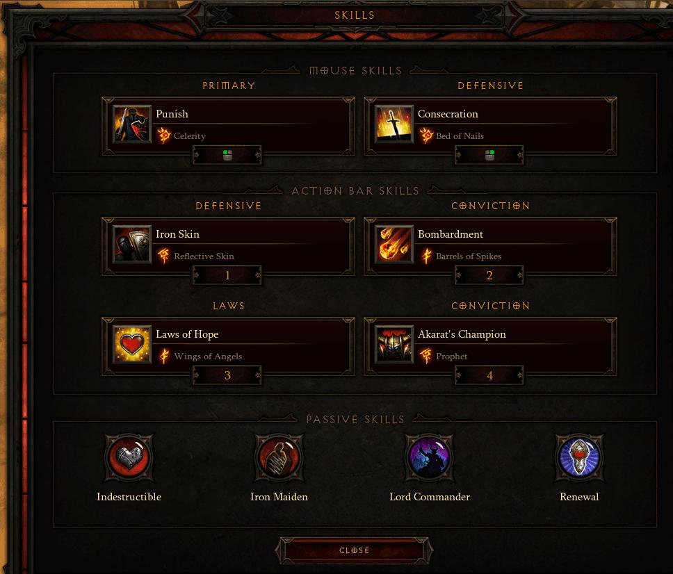 Diablo  Kreuzritter Build Season