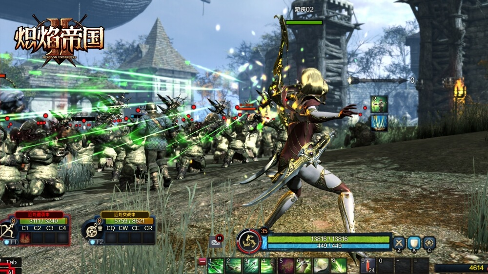 Kingdom under fire 2 Elf Ranger Combat 1