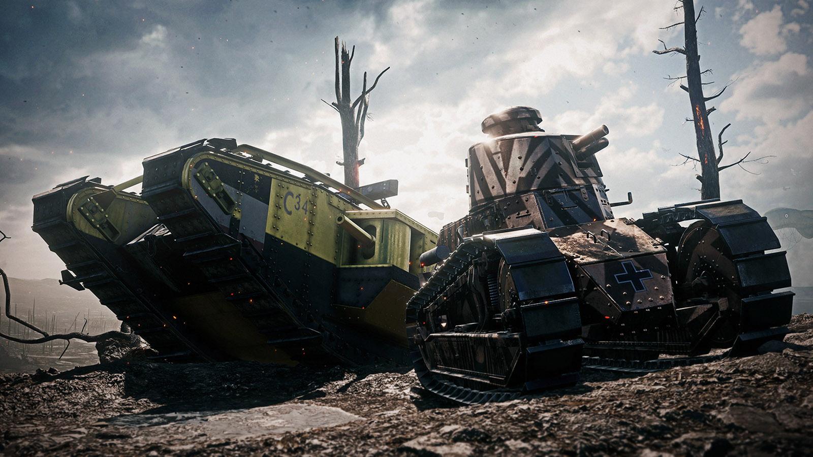BF1 Tank skins