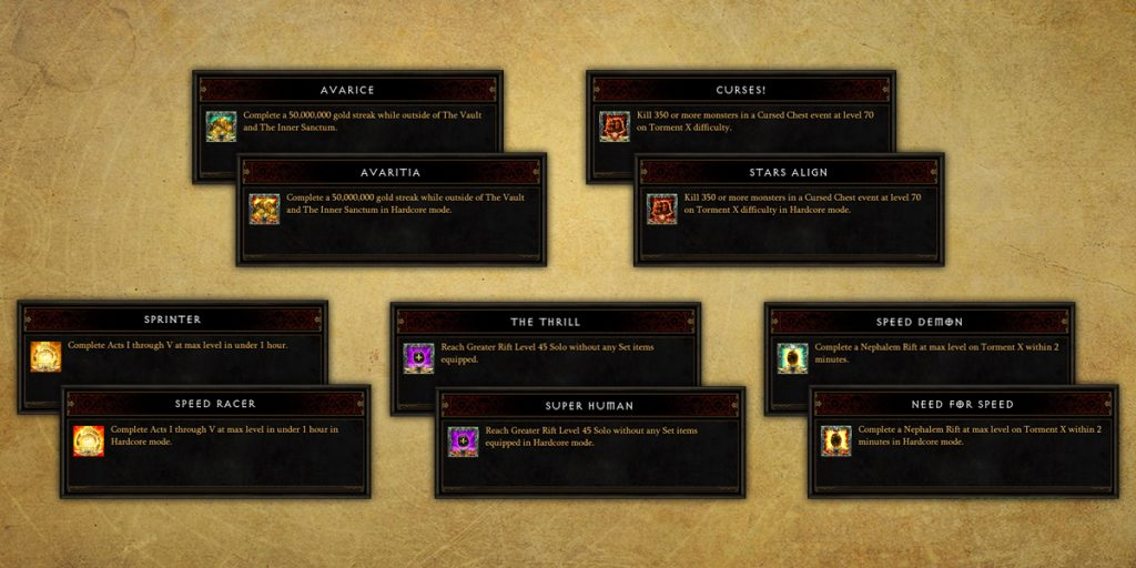 Diablo 3 Achievements