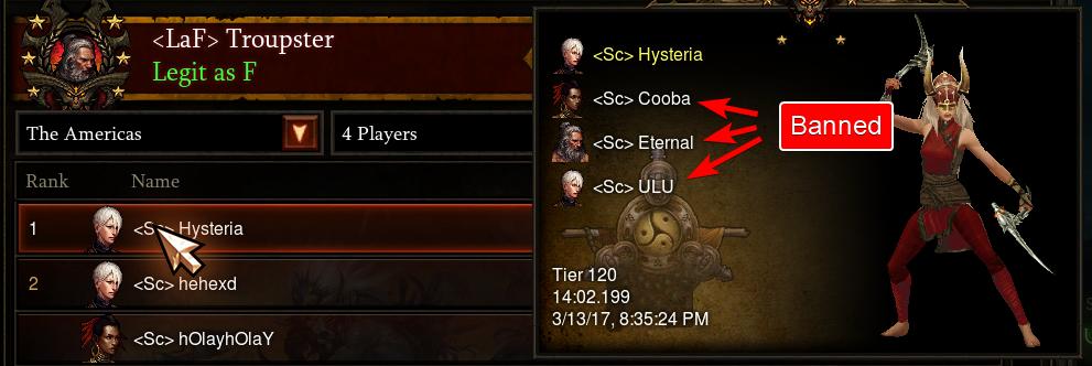Diablo 3 Rangliste Bann