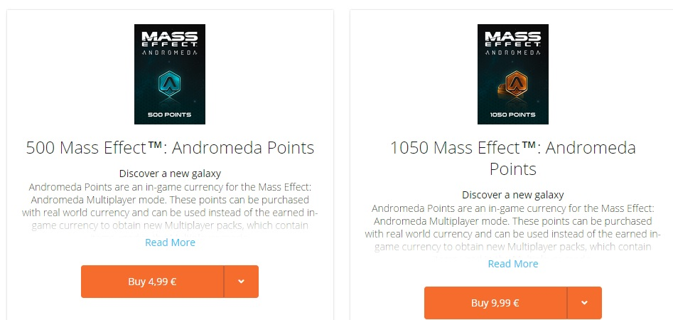 ME Andromeda Multiplayer Currency