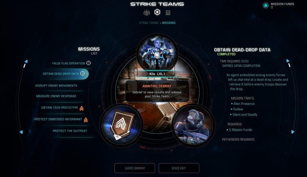 ME Andromeda Multiplayer Strike Teams