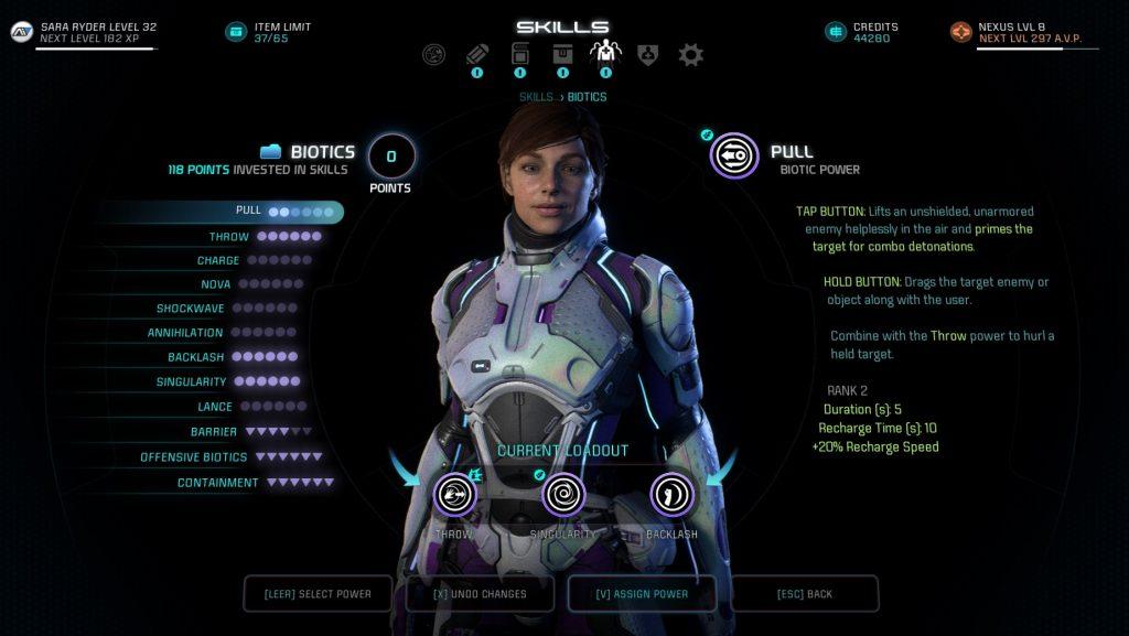 Mass Effect Andromeda Biotic Talents