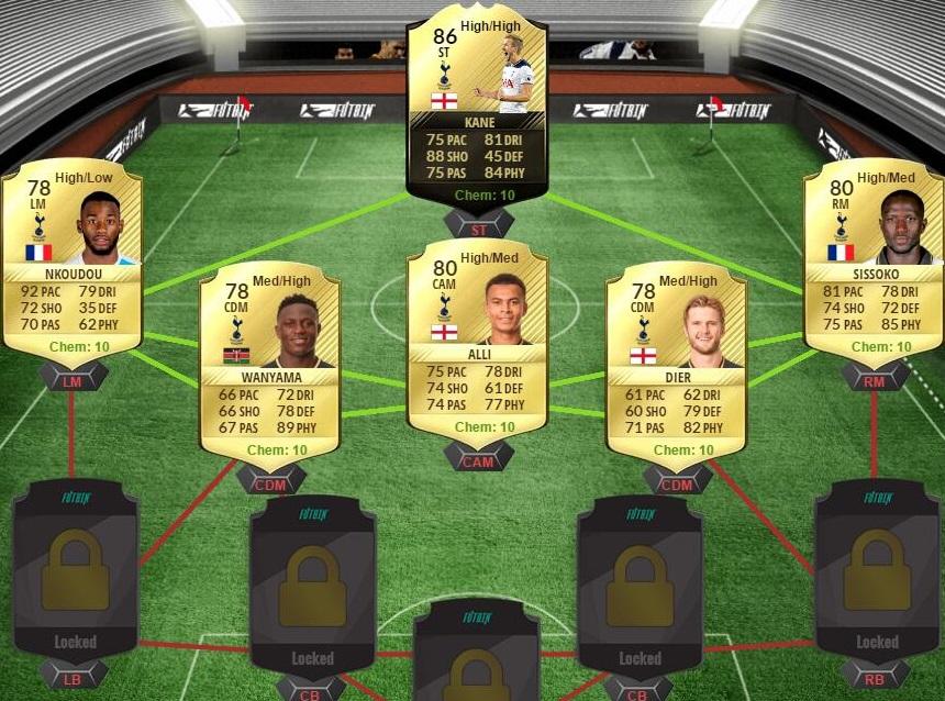 Squad Building Challenge Tottenham