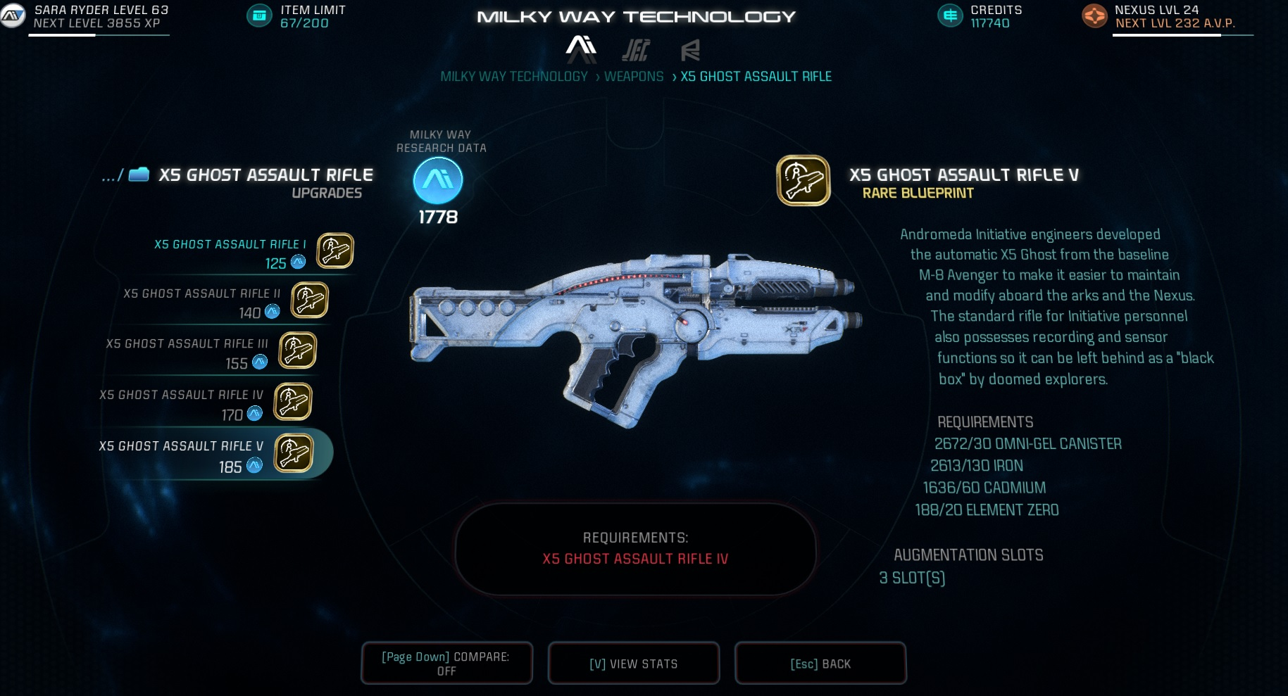 Mass Effect Andromeda X5 Ghost