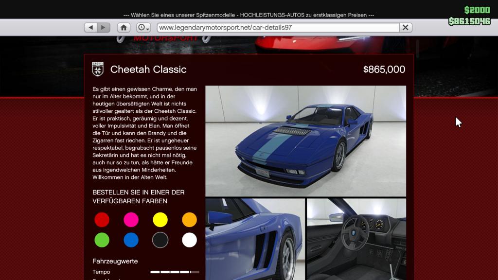 GTA 5 Online Cheetah Classic