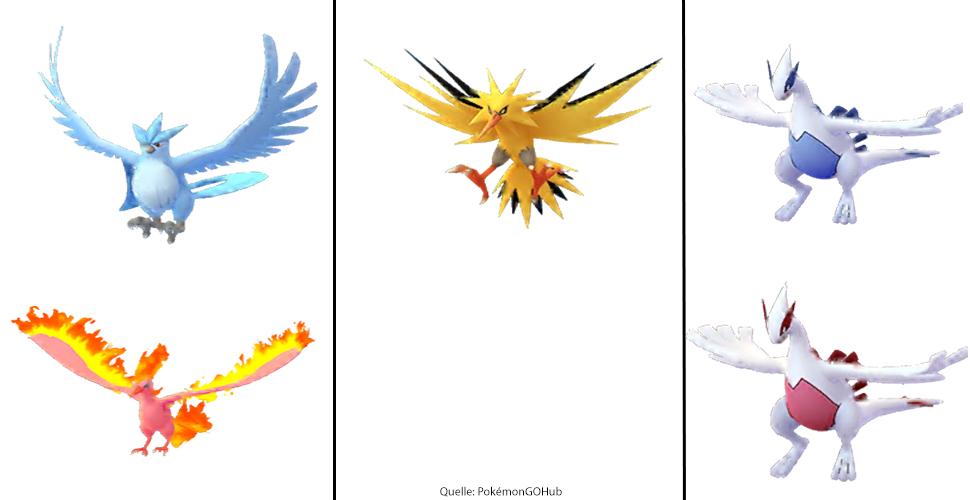 Zwei legendäre Pokémon nun in Pokémon GO